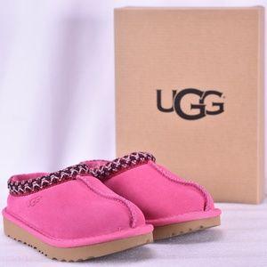 Youth UGG Tasman II Pink Azalea Wool Slippers